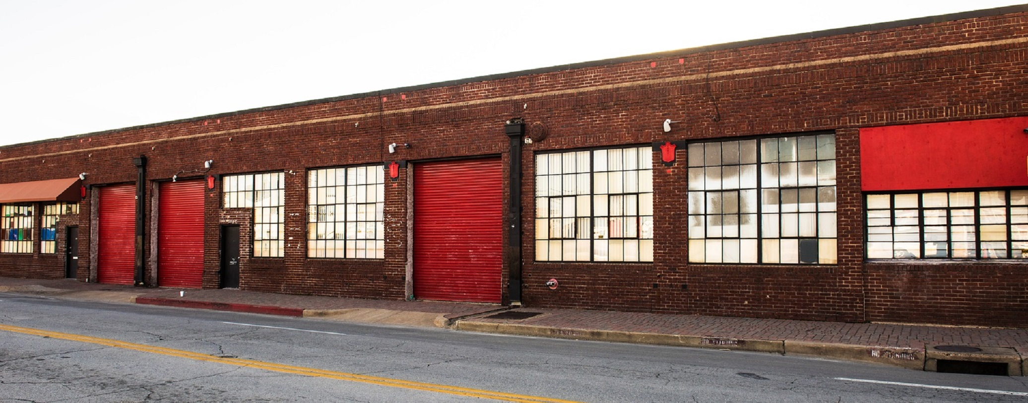 Image of old vintage warehouses in run down part of town
