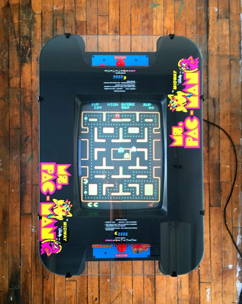 Ms Pac Man Cocktail Table Video Arcade Game For Sale