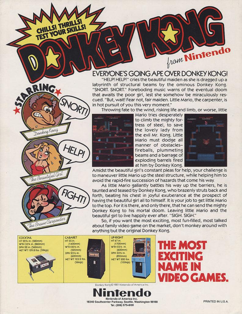 donkey-kong-flyer-arcade-sale