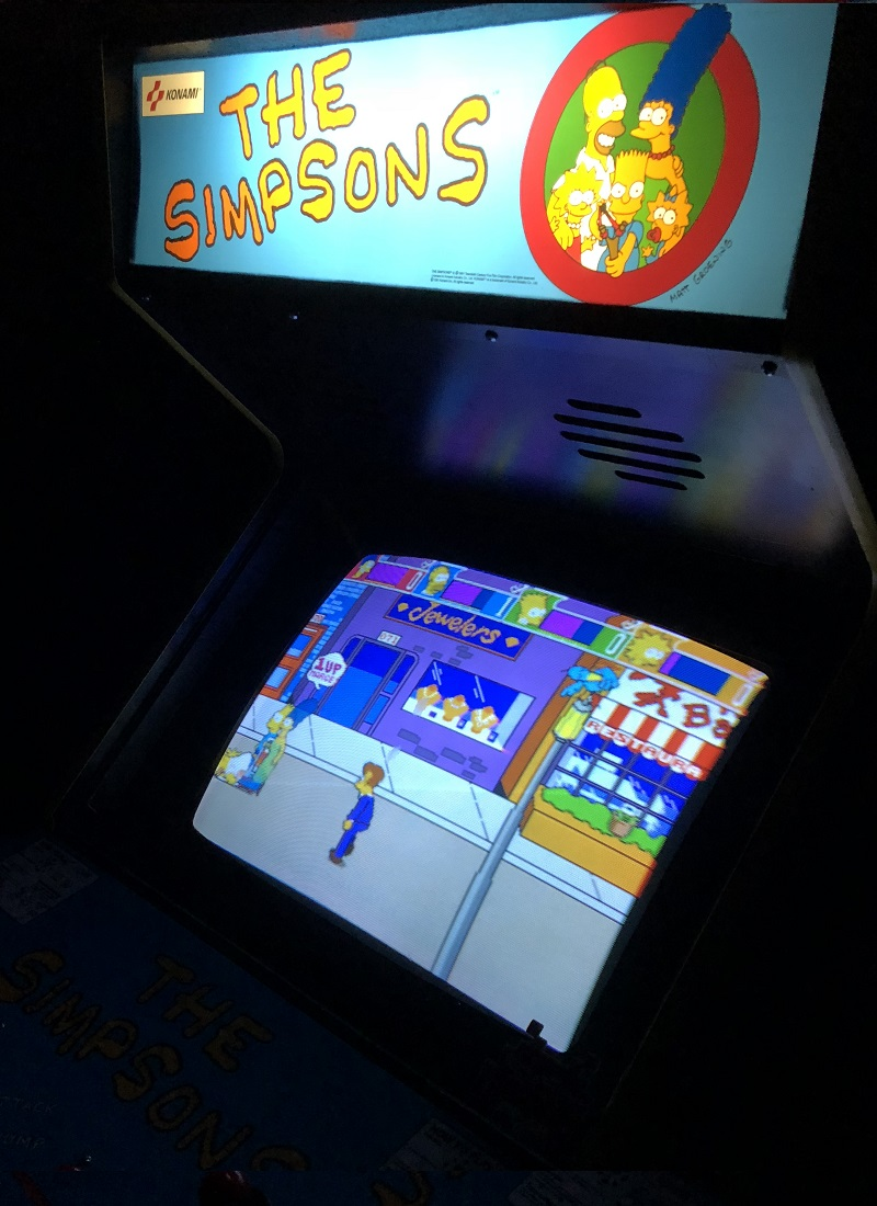 the-simpsons-arcade-game-rentals-nyc-monitor