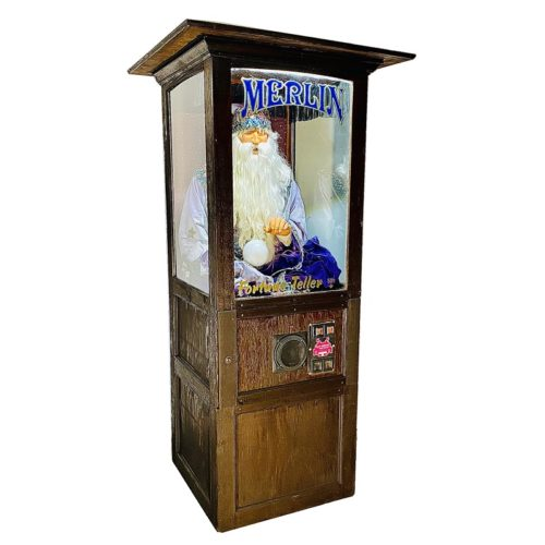 merlin fortune teller machine prop rental new york
