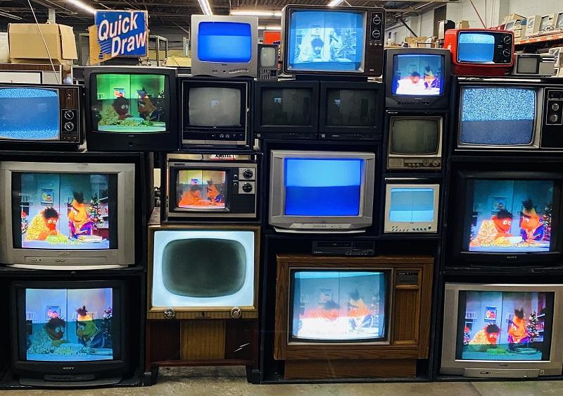 tv wall prop rental ny