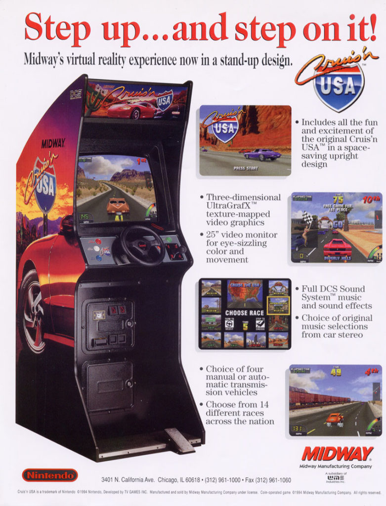 cruisn world arcade rental ny flyer