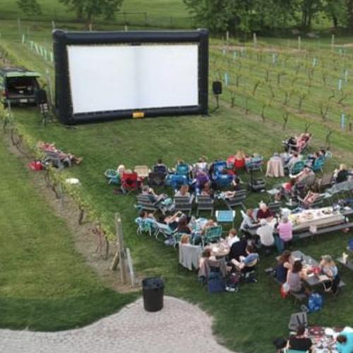 outdoor movie rentals Fairfield county ct screen