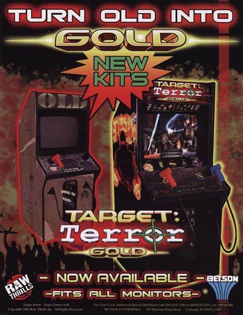 target terror arcade rental flyer