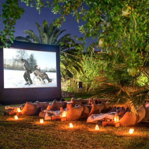 12 foot outdoor screen rental